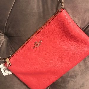 New with Tags Coach double zip purse